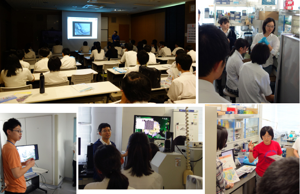 The Labo Tour for Utsunomiya Junior College Attached High School Students