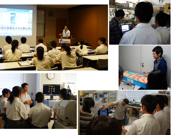 The Labo Tour for Takamatsu-Kita High School Students