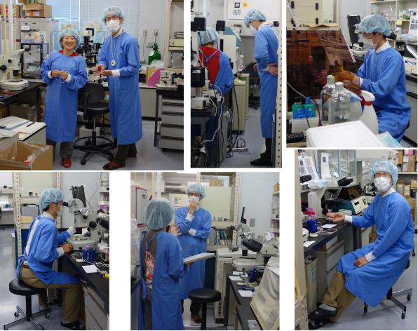 Dr. Hino, Asahikawa Medical University, visited our laboratory.