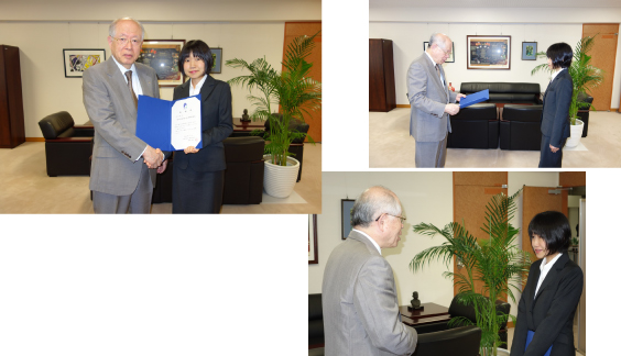 Ms Mami Oikawa Received the President's Letter of Appreciation